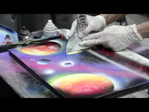 Ver vídeo - Pintura de rua feita com spray. Fantástico!